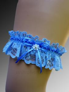 Giarrettiera - blu/blu