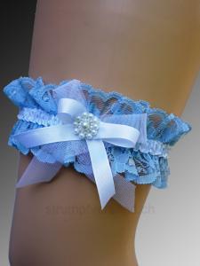 Giarrettiera blu/bianca