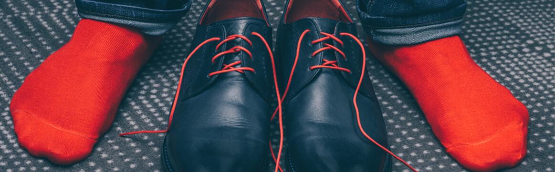 calzini rossi da uomo